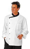 Китель поварской модельный, мужской, белого цвета, пошив
