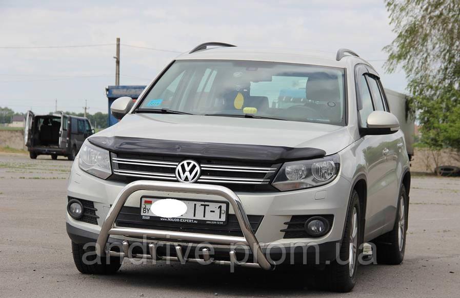 Кенгурятник с грилем (защита переднего бампера) Volkswagen Tiguan 2011-2016
