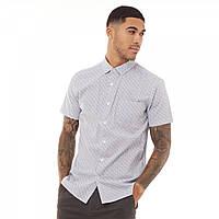 Рубашка Fluid Printed Short Sleeve Shirt White/Black/Grey White - Оригинал, фото 1