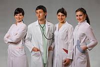 Медицинские, лабораторные халаты, одежда для медсестер, медперсонала, докторов, фармацевтов
