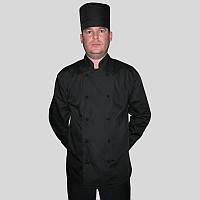 Комплект мужской, поварской, черный костюм повара