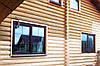 Покраска деревянного дома из сруба