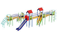 Детский комплекс Змейка, высота горки 1,5 м Kidigo (11234)