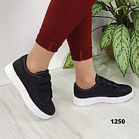 Женские черные кроссовки на липучках 1250 размеры 36,38