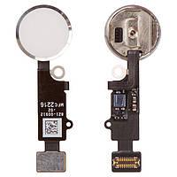 Шлейф для Apple iPhone 7 | 7 Plus | 8 | 8 Plus, кнопки меню (Home) белая (работает по Bluetooth)