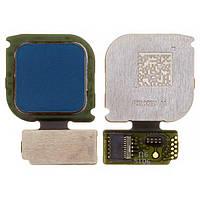 Шлейф для Huawei P10 Lite | WAS-L21, с сканером отпечатка пальца, синий