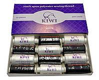 Швейные нитки 40/2 Черные и Белые полиэстер Kiwi Киви 400ярдов, фото 1