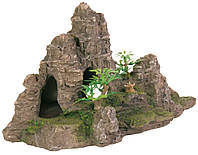 Декорация для аквариума Trixie Скала с растениями