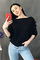 Блузка женская черная размер 44-46 AAA 8021, фото 1