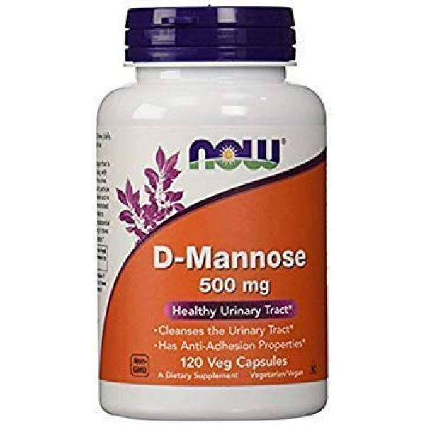 Now Foods D-манноза 500 мг 120 штук D-mannose Healthy Urinary Tract 500 Mg 120 Veg Capsules