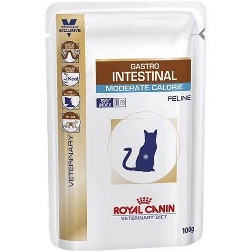 Влажный корм Royal Canin Gastro Intestinal Moderate Calorie при нарушениях пищеварения у кошек, 85 г