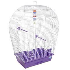 Клетка для птиц Природа Арка большая белая/фиолет.44*27*75