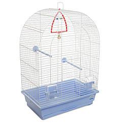 Клетка для птиц Природа Арка белая/светло-голубая 44*27*65