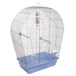 Клетка для птиц Природа Арка большая хром/светло-голубая 44*27*75