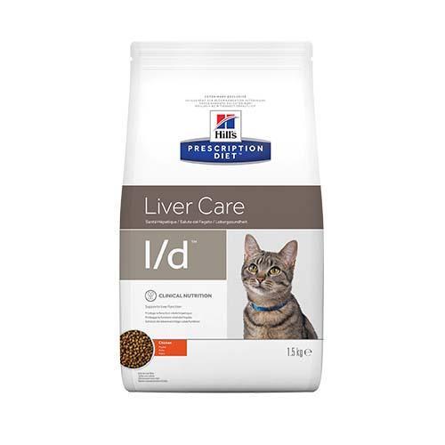 Сухой корм Hills Prescription Diet Feline l/d Liver Care для кошек, с курицей, 1.5 кг