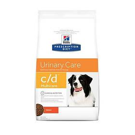 Сухой корм Hills Prescription Diet Canine c/d Multicare Urinary Care для собак, с курицей, 12 кг