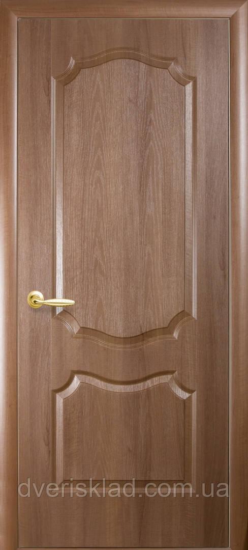 Дверь ПВХ (Фортис) V вензель глухая