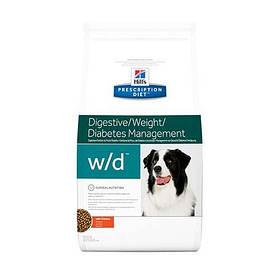 Сухий корм Hills Prescription Diet Canine w/d Digestive/Weight/Diabetes Management для собак з куркою, 1.5 кг
