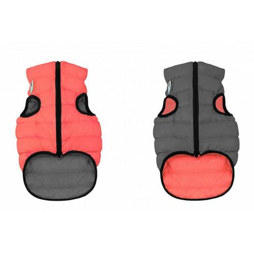 Двусторонняя куртка AiryVest L55 для собак, кораллово-серая