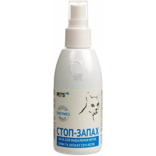 Средство Pet`s Lab для устранения пятен, запаха мочи котов, 300мл