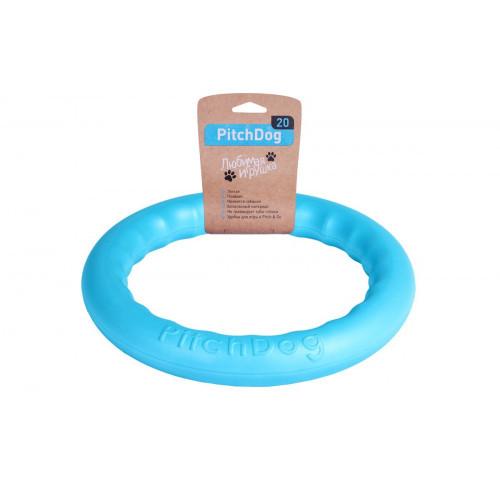 Кольцо для апортировки PitchDog, голубое, диаметр - 20 см