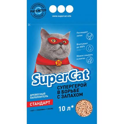 Наповнювач для туалету Super Cat Стандарт 3 кг, синій, фото 2