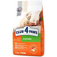 Сухой корм Клуб 4 Лапы Premium For Kittens для котят, с курицей, 5 кг