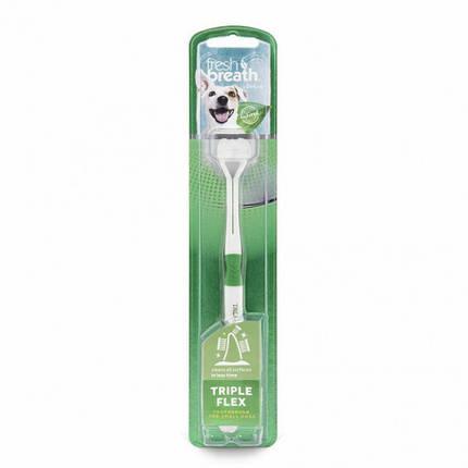 Зубна щітка TropiClean Triple Flex Small для собак дрібних порід, фото 2