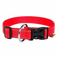 Нейлоновый ошейник Dog Extreme для собак, регулируемый, 20 мм, 25-40 см, красный