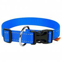 Нейлоновый ошейник Dog Extreme для собак, регулируемый, 25 мм, 31-49 см, голубой