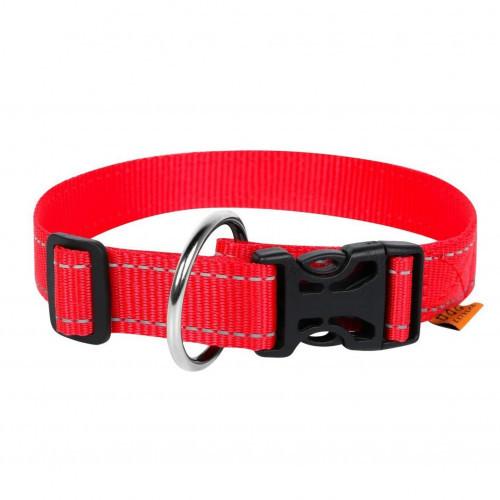 Нейлоновый ошейник Dog Extreme для собак, регулируемый, 25 мм, 31-49 см, красный