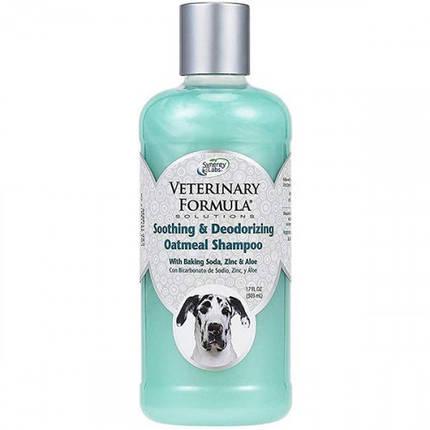 Шампунь Veterinary Formula Soothing & Deodorizing Oatmeal Shampoo для собак и котов, 503 мл, фото 2