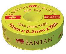Фум лента SANTAN для газа PROFI 19 мм*0,2 мм*20 м