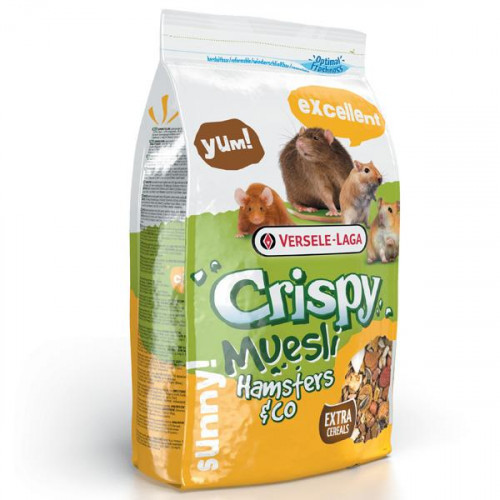 Корм Versele-Laga Crispy Muesli Hamster зерновая смесь для хомяков, крыс, мышей, песчанок, 1 кг