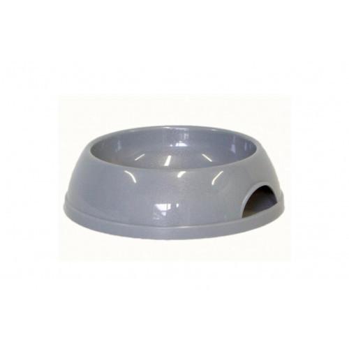 Миска Moderna ЭКО для кошек, пластик, серая, 200 мл, d-11.5 см