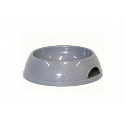Миска Moderna ЭКО для кошек, пластик, серая, 200 мл, d-11.5 см, фото 2