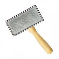 Пуходерка-сликер Artero деревянная рукоять и металлическая основа, 4,5 см