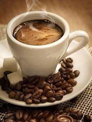 Алмазная мозаика Чашка кофе эспрессо 30x40см DM-132 Полная зашивка. Набор алмазной вышивки