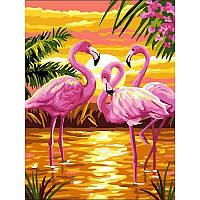 Картина по номерам Фламинго на красивом закате VK188 30x40 см., Babylon