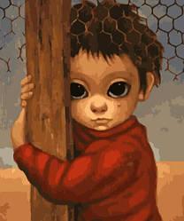 Картина по номерам Маленкий ребенок. Маргарет Кин, 40x50 см., Brushme