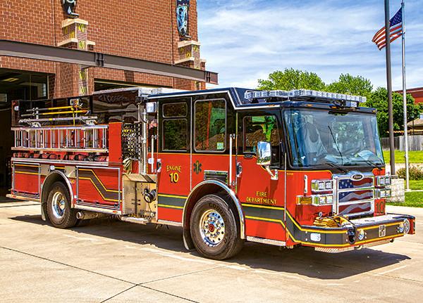 Пазлы Пожарная машина на 180 элементов