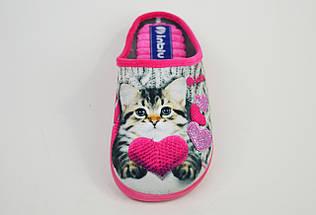 Тапочки женские с кошкой Inblu ES5B розово-бежевые, фото 2