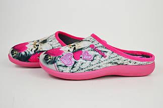 Тапочки женские с кошкой Inblu ES5B розово-бежевые, фото 3