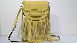 Жіноча шкіряна сумка 7354 жовта