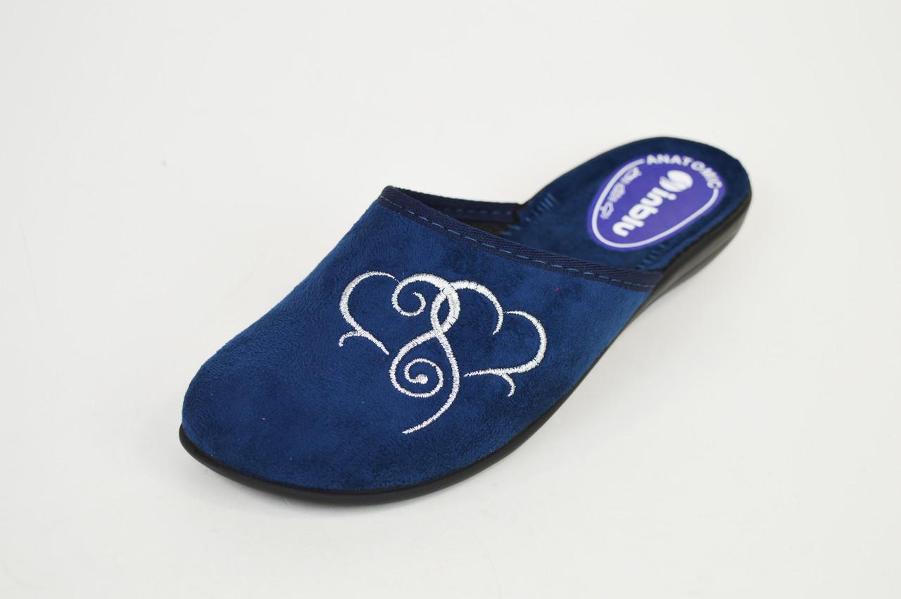 Тапочки женские Inblu NC5B Синие