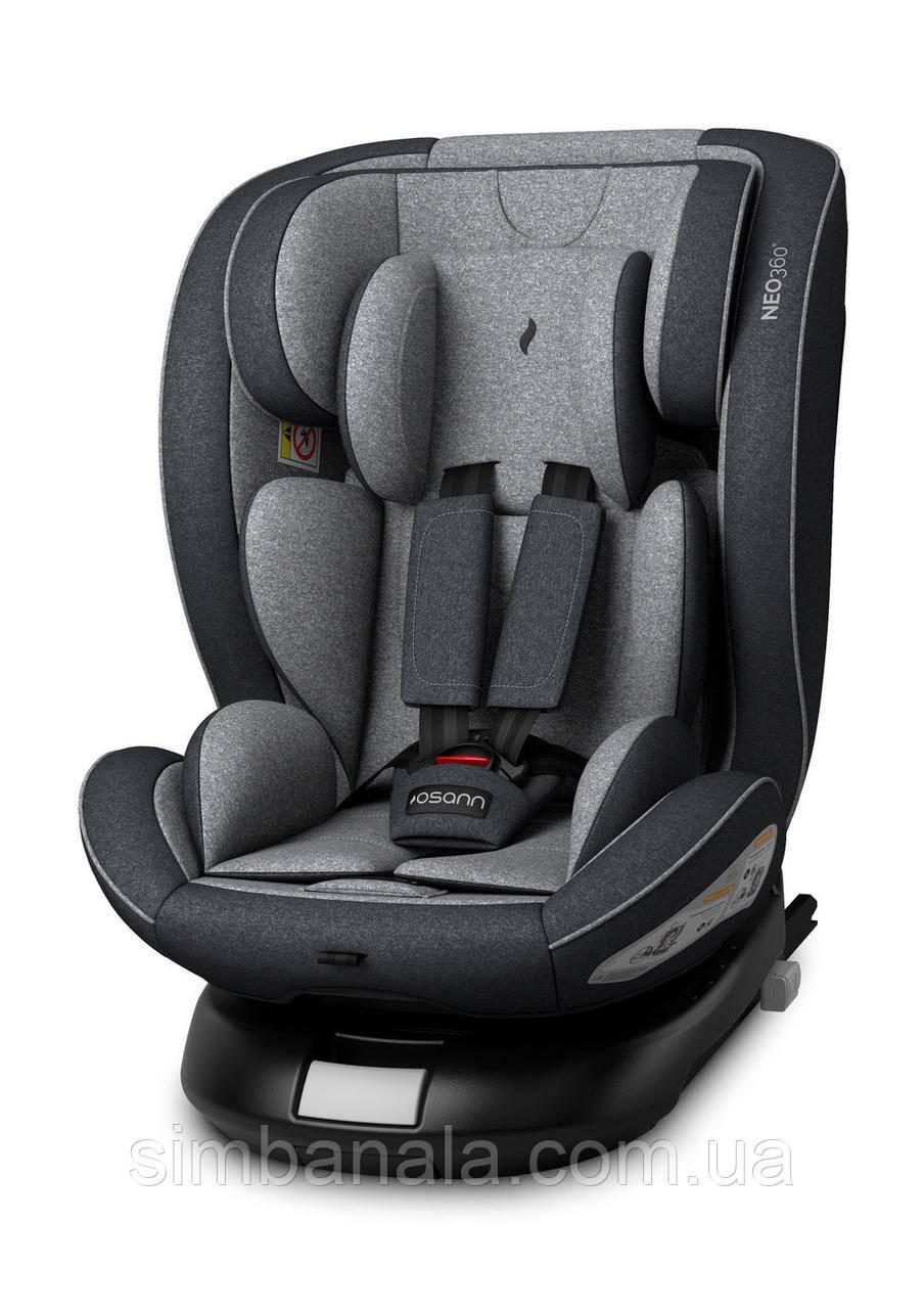 Дитяче автокрісло NEO360° (0-12 років до 36 кг.) з системою Isofix Universe Grey
