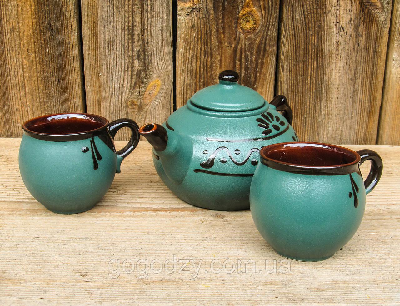 Чайний набірна 4 особини зелений
