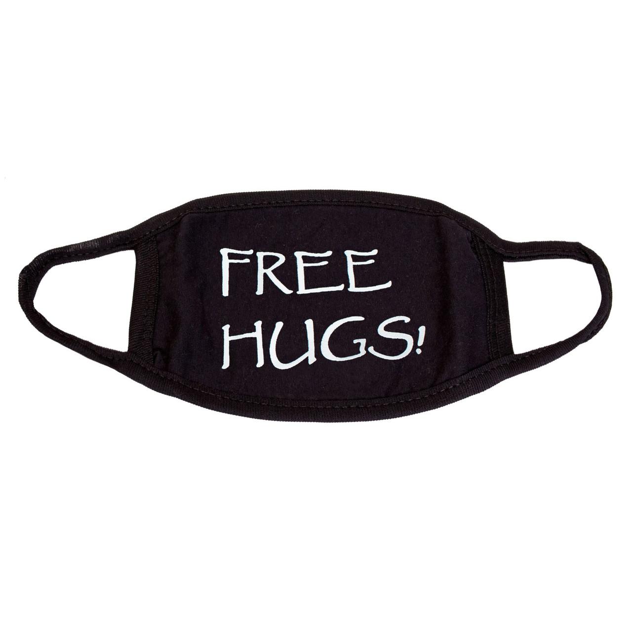 Маска черная защитная Бесплатные обнимашки