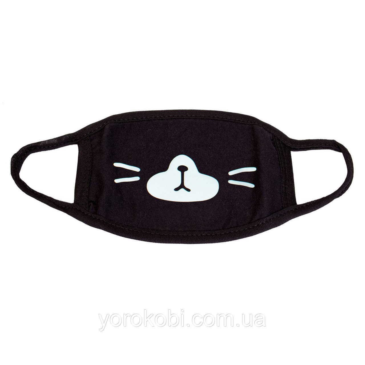 Маска черная защитная Котик