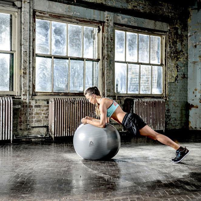 Мяч гимнастический Reebok RAB-12015GRBL 55 см серый
